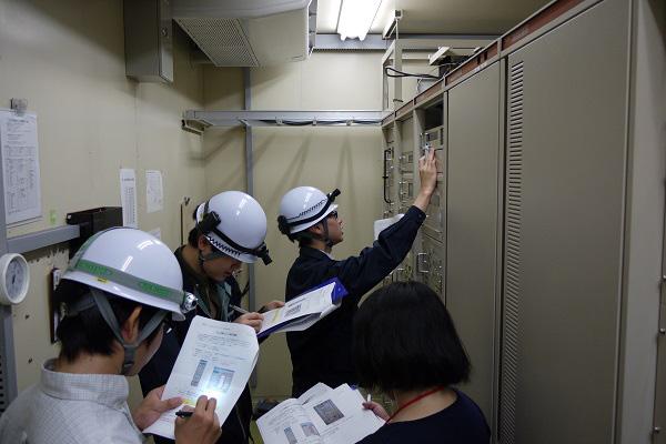 川口衛星管制センターでの初動訓練
